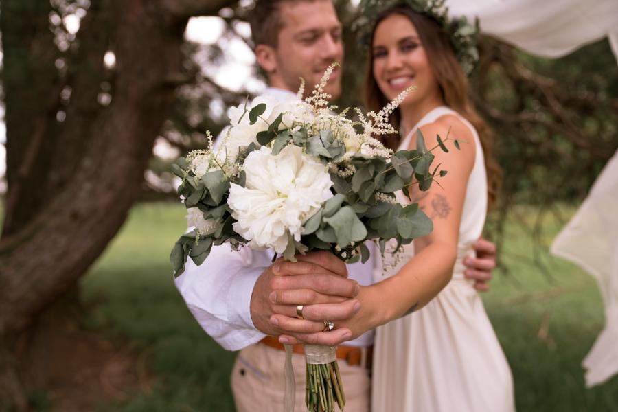 Der wunderschöne Vintage Brautstrauß